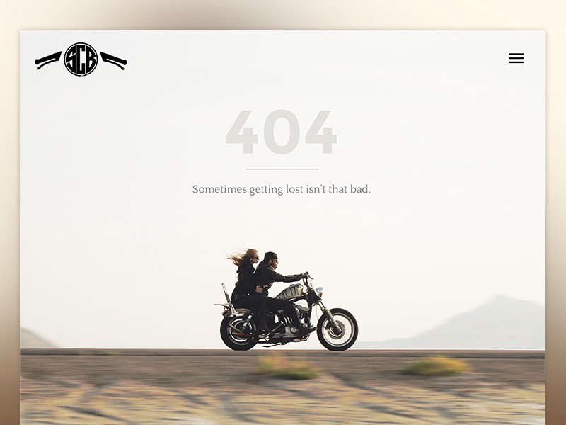 man and woman on a bike as a good example of 404 ux