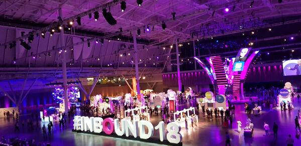 inbound 18 sign in club inbound with product stalls stands and swag