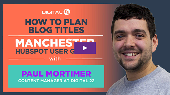paul mortimer how to plan blog titles video
