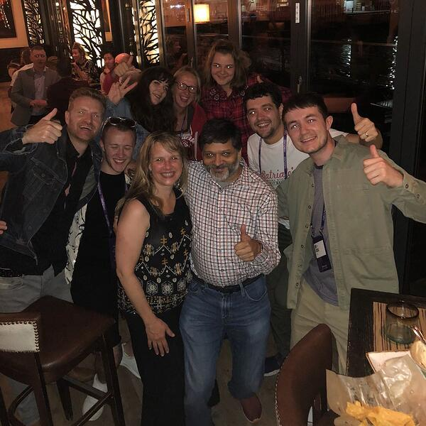 dharmesh shah and digital 22 team at inbound