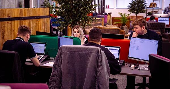 digital 22 content team in office