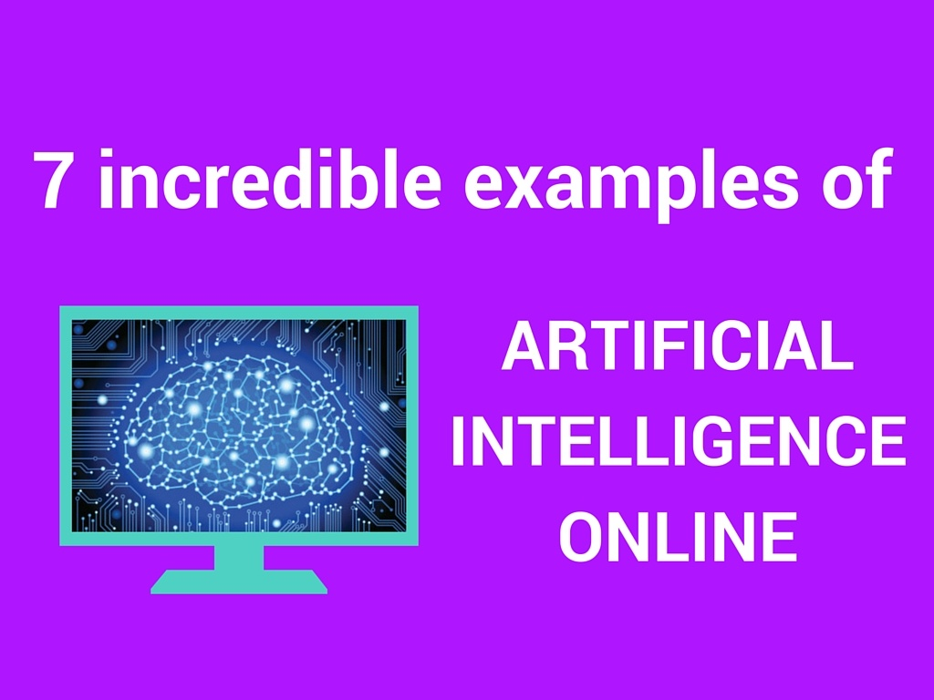 artificial intelligence online examples