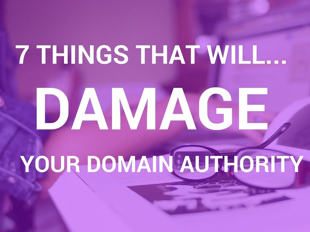 damage your domain authority title image