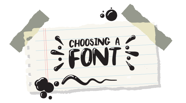 illustrated choosing a font