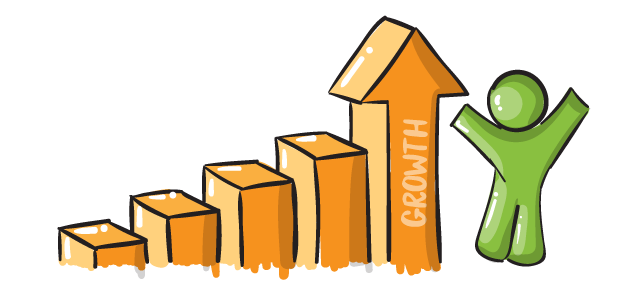 illustrated growth graph
