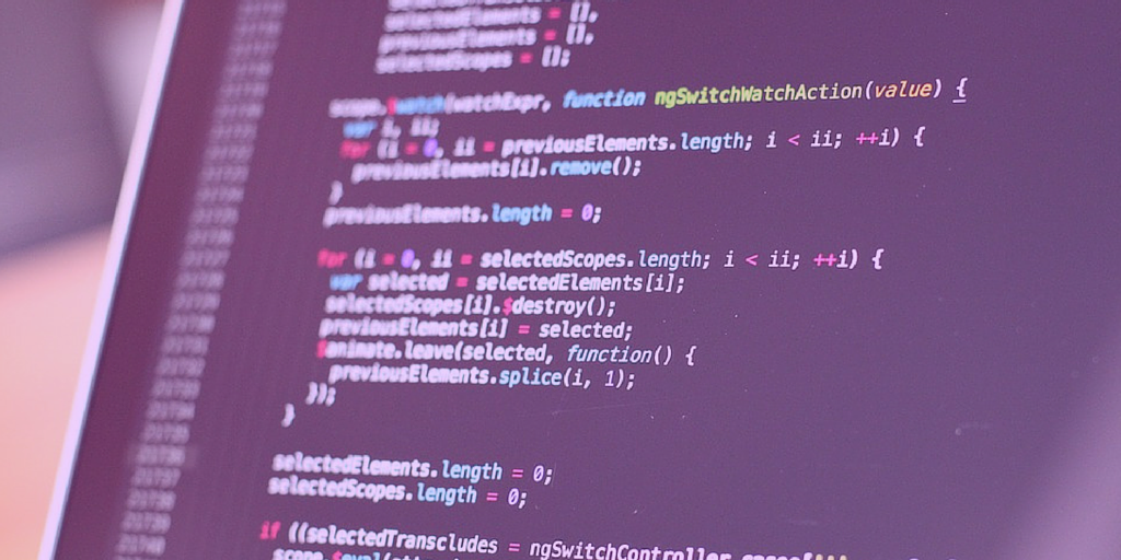 code on a screen to signify back end seo and bots