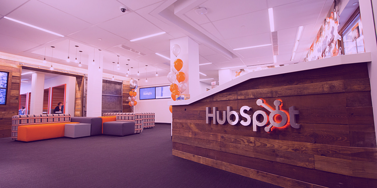 HubSpot head office with digital 22 purple hue title image