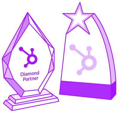 HubSpot-Awards Digital 22 Diamond Trophy