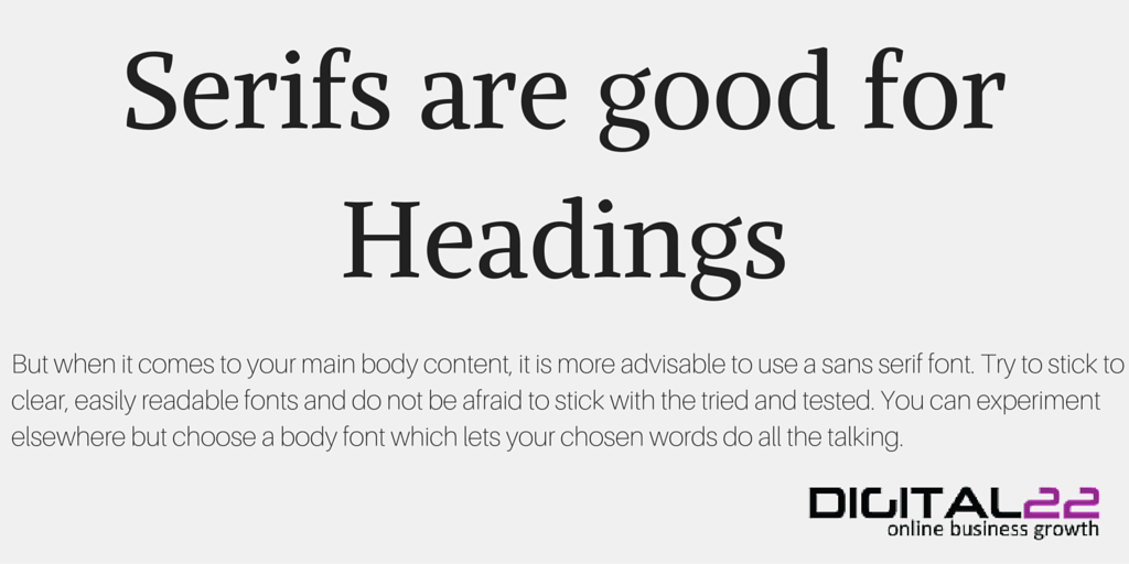 font guide in actions