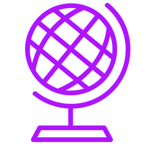 Icon picture of a globe to show Moz has gone global