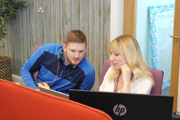 amy and dan in digital 22 office