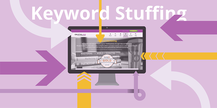 Keyword stuffing graphic