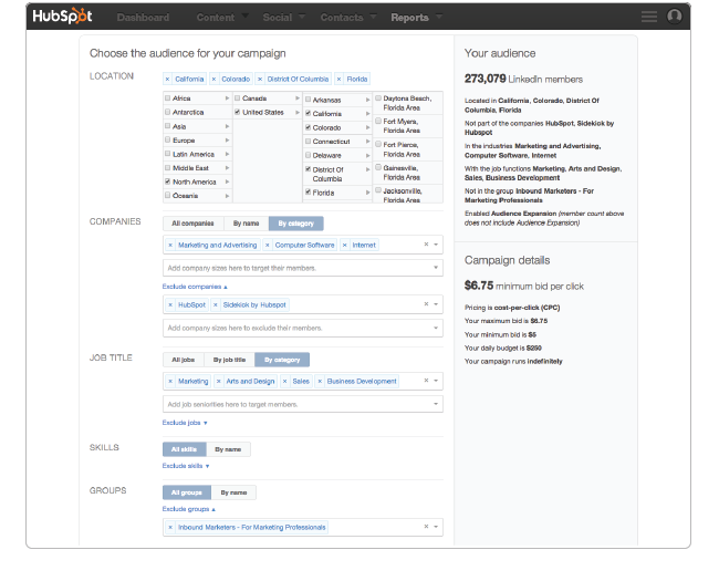 Creating an Ad with Hubspot