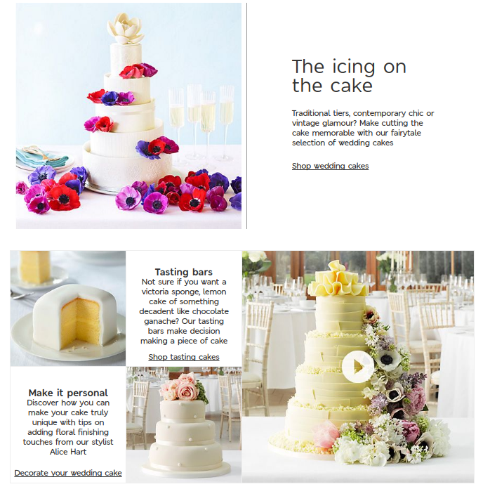 M&S wedding website