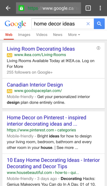 Google test the resolve of mobile-friendly tags in Adwords