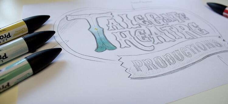 illustrated talegate theatre logo