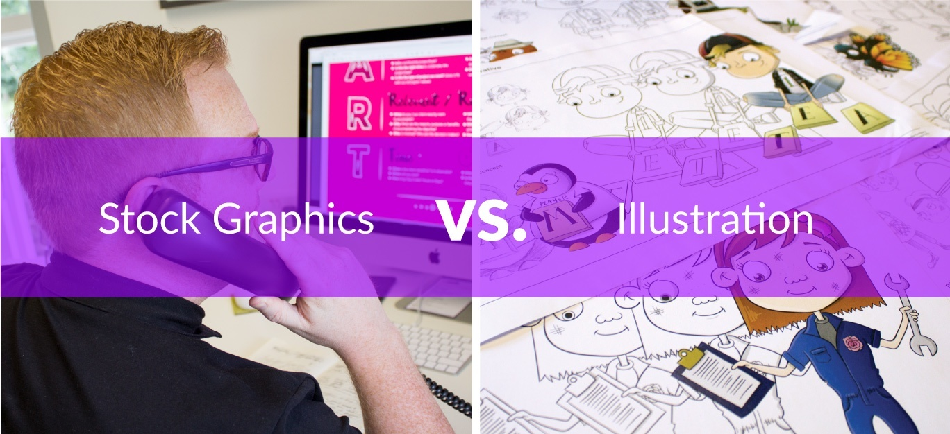 stock graphics vs illustration