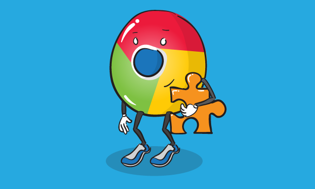 illustrated chrome button