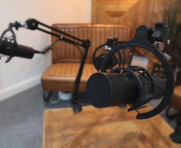 digital 22 XLR microphone for business podcast