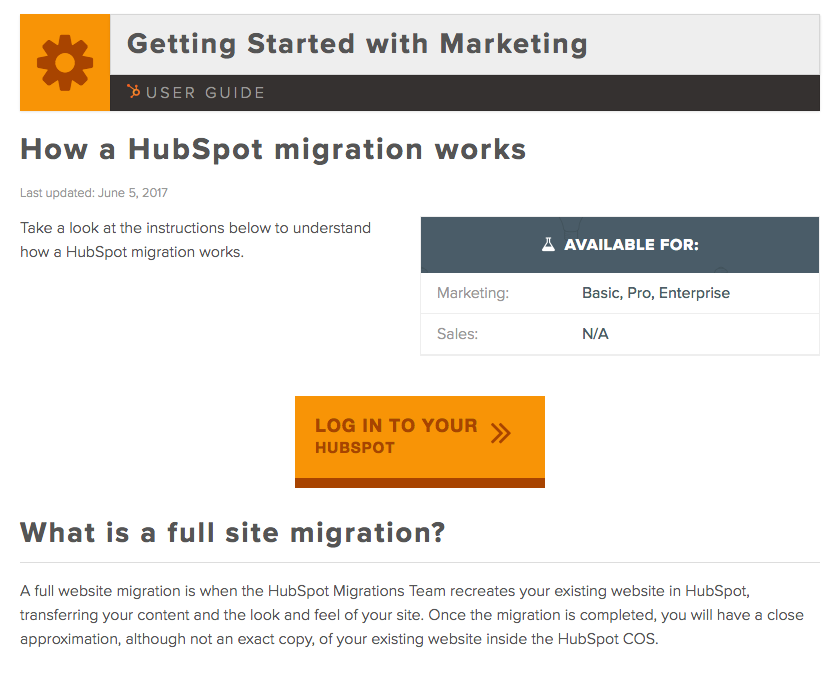 Importing your website from WordPress to HubSpot
