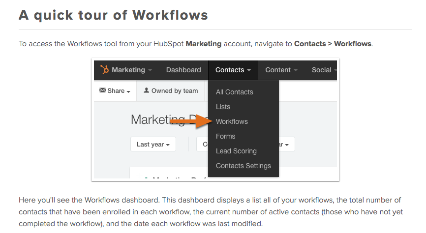 Marketing workflows