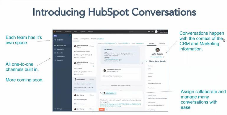 Introducing HubSpot Conversations