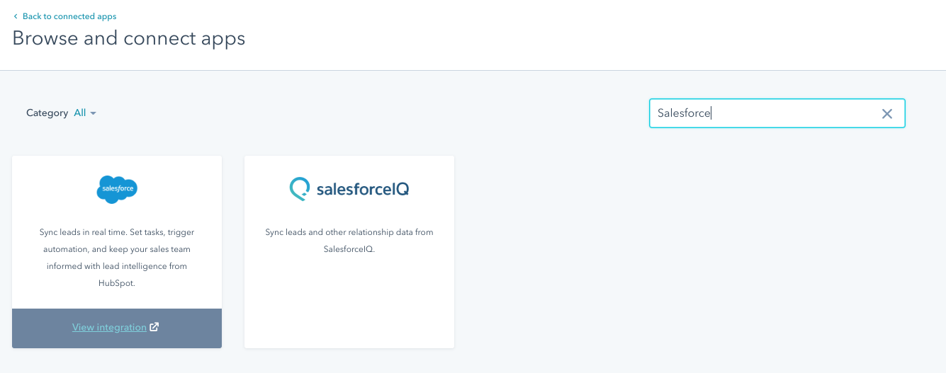 HubSpot Salesforce integration