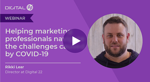 Webinar: helping digital marketing professionals navigate the challenges caused by COVID-19.