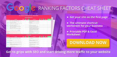 Google ranking factors cheetsheet Digital 22