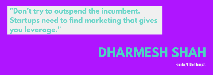 Startup quote from Dharmesh Shah