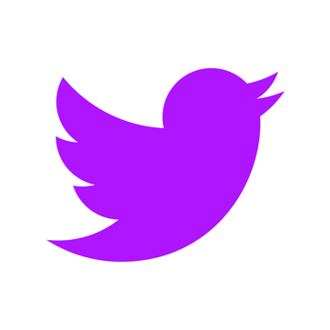 twitter logo in digital 22 purple