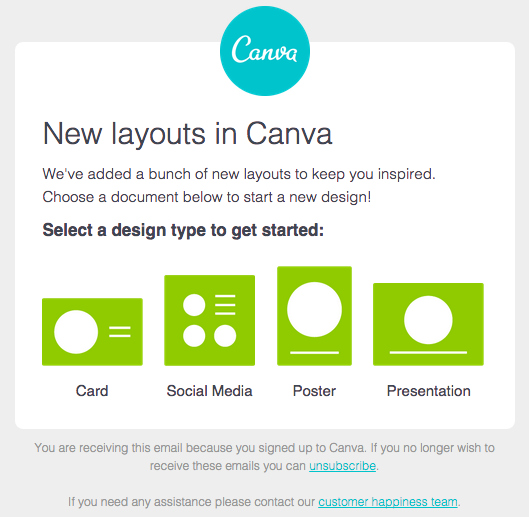 canva email marketing