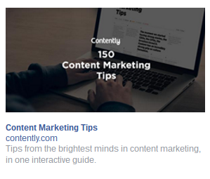 contently remarketing advert