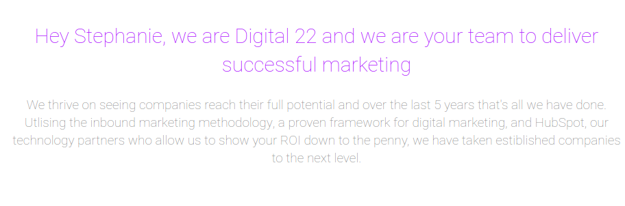 digital 22 personalisation