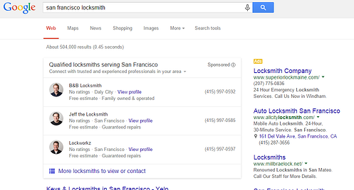 Google tests striking AdWord format that could give your local business priority