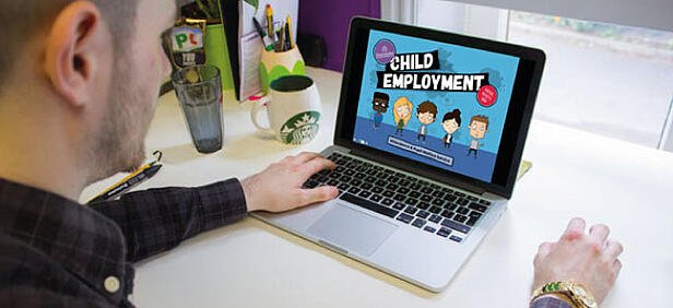 child employment graphic design