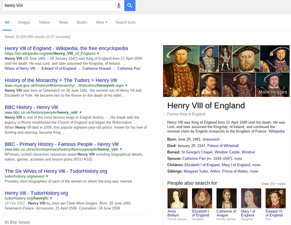 henry Viii search