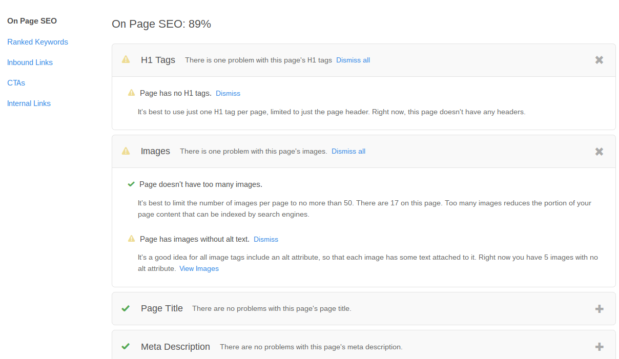 hubspot page performance