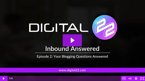 4 Common Blogging Questions Answered - Inbound Answered #2 [Video]
