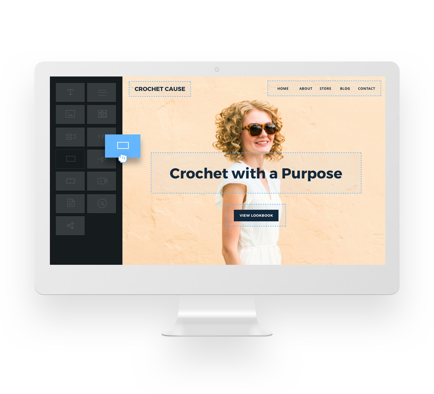 Weebly website builder homepage text editing