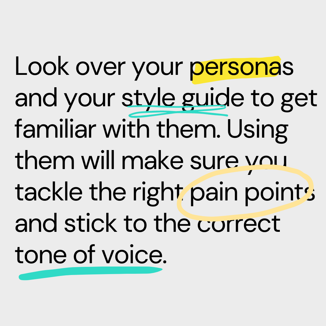 personas and style guide tip