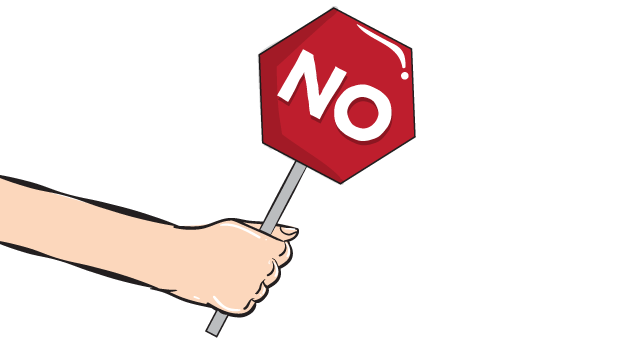 no stop sign cartoon graphic