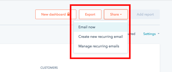 Hubspot Report Export Feature