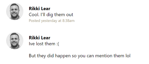 rikki basecamp lost them lol quote.png