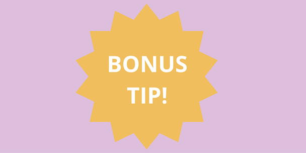 Bonus tip graphic