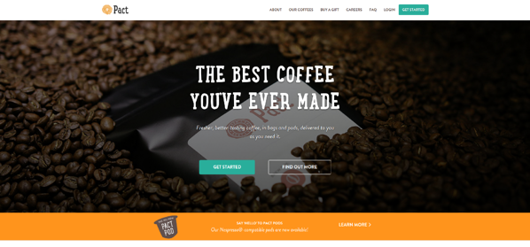 Pact Coffee homepage