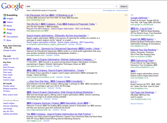 Old Google SERP