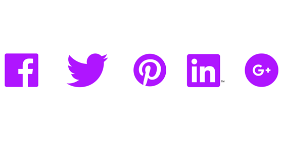 social icons in Digital purple