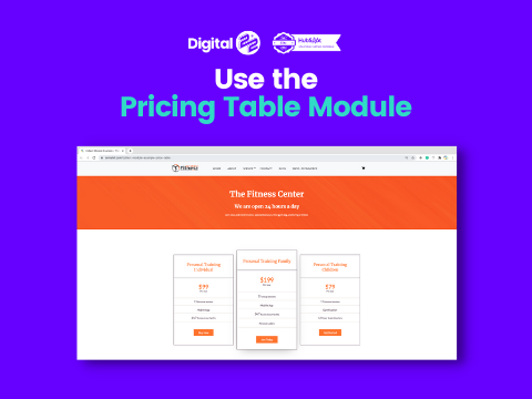 Collect pricing table module