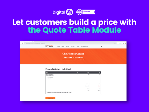 Collect quote table module